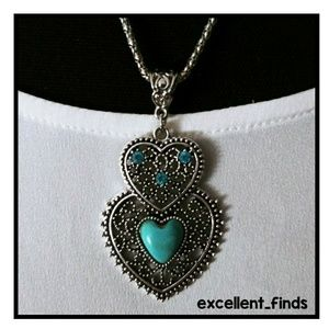 🆕Bohemian double hearts necklace